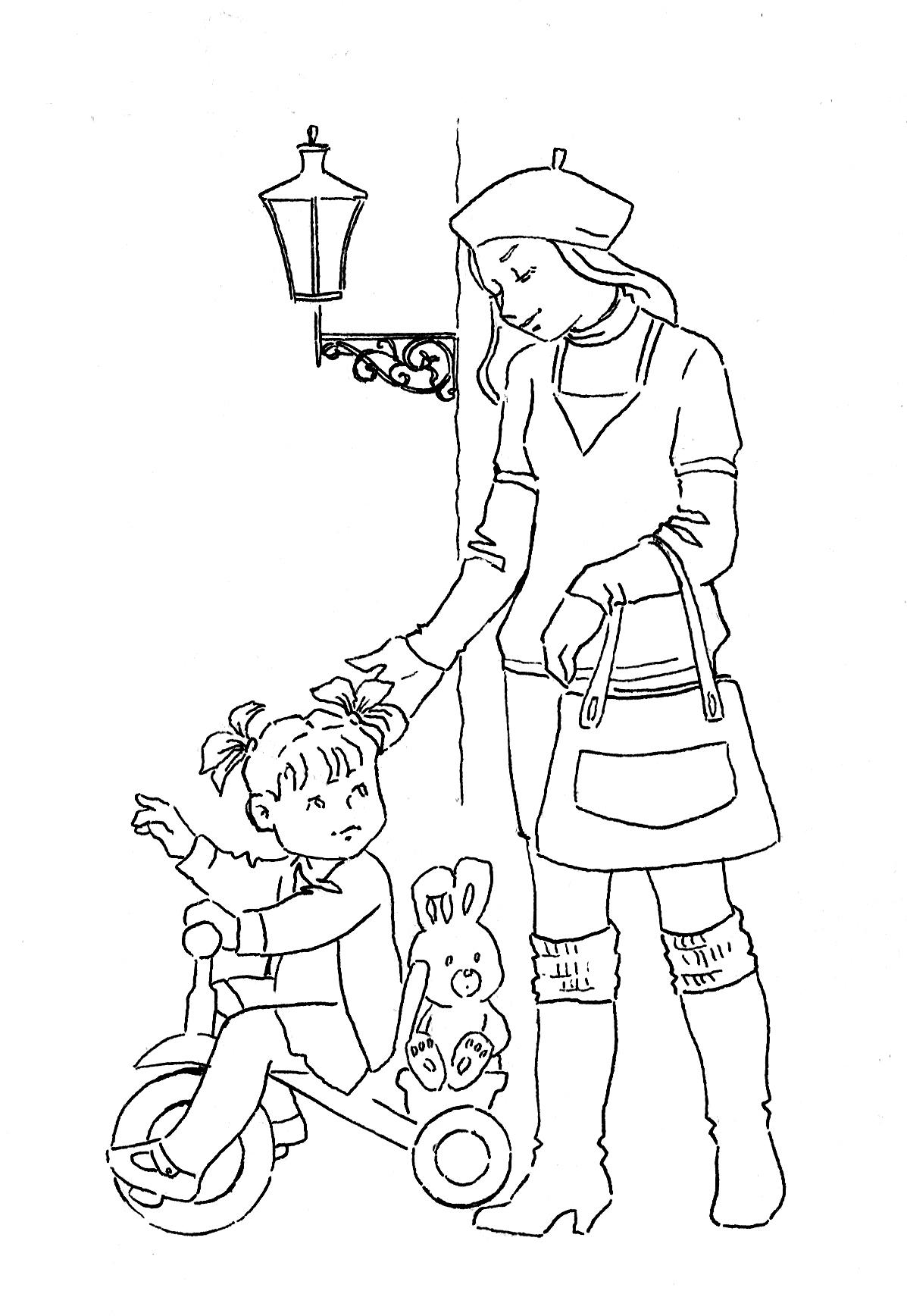 Хоровод дети раскраска