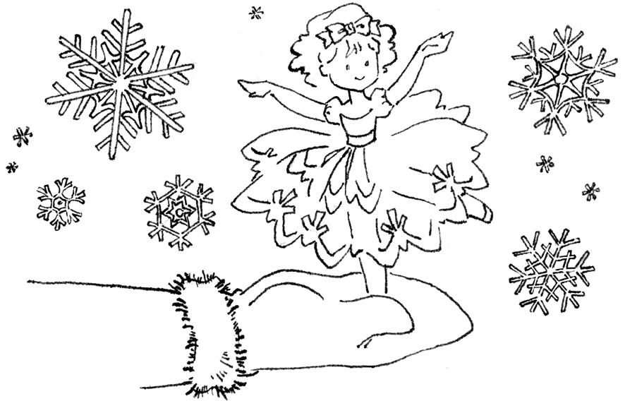 Скачать раскраски снежинка